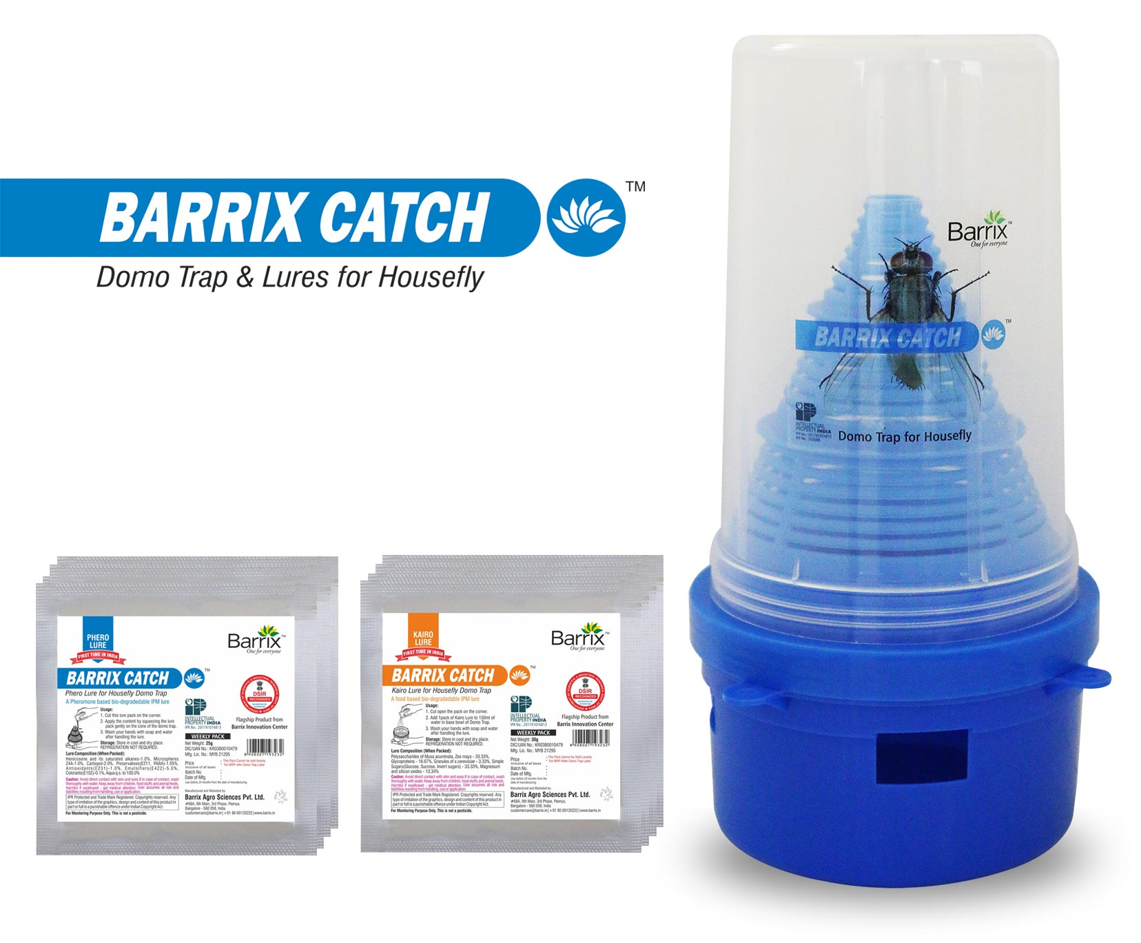 Barrix Catch - Domo trap for housefly
